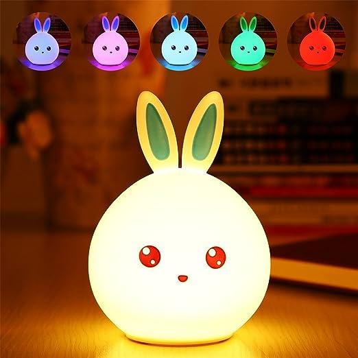 Los niños LED luz nocturna con cambio de color Ajuste suave de ...