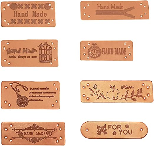 24 Leren Labels | Lederen Labels voor Kleding