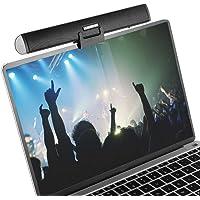 Portable Speaker Bar, Ikanoo USB Cable Powered Sound Bar Clips on Laptop or Stands on Desktop, Soundbar Speaker for Notebook Laptop PC TV