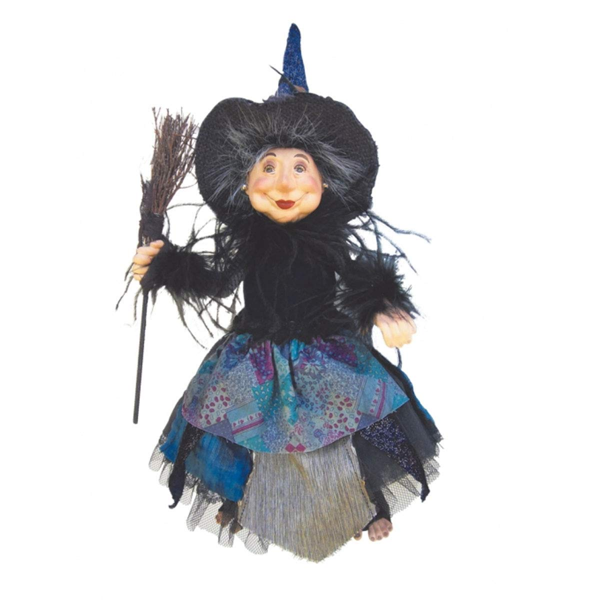 Witches of Pendle - Alizon Device Witch Hanging or Sitting (Deep Blue) 35cm 5540SP-3