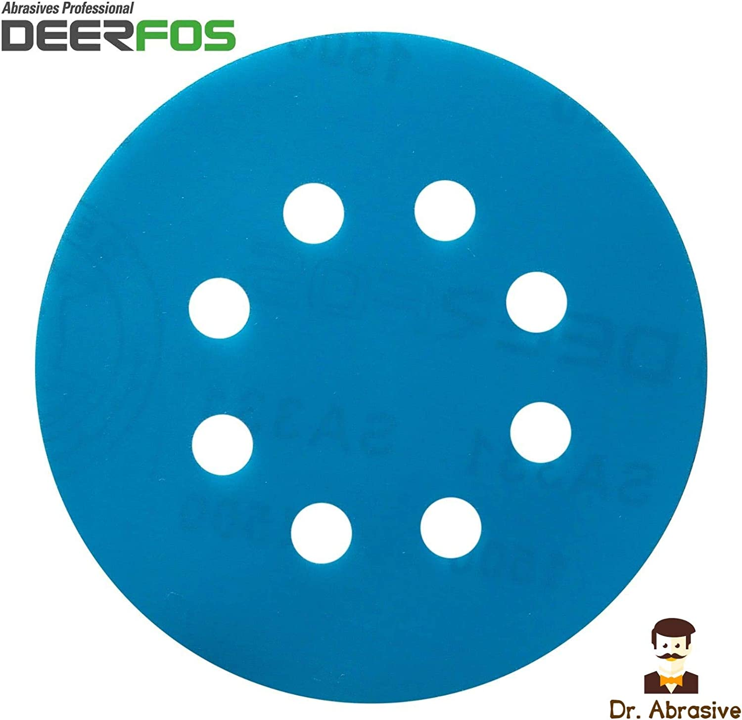 50 Pack Made of Aluminum Oxide and Back Film Deerfos Hook and Loop Sanding Discs 5 Inch P1200 Grit No Holes