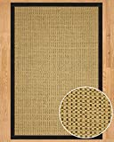 NaturalAreaRugs Sonoma Wool/Sisal Area Rug, Handmade in USA, 53% Wool and 47% Sisal, Non-Slip Latex Backing, Durable, Stain Resistant, Eco/Environment-Friendly, (3 Feet x 5 Feet) Metal Border