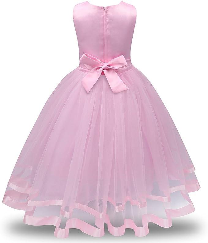Amazon.com: Vestido de fiesta de cumpleaños para niñas ...