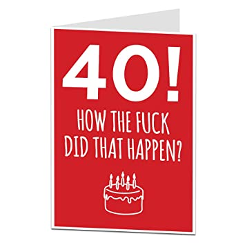 Funny 40th Birthday Card Age Joke For Him Her Perfect Friends Husbands Wifes