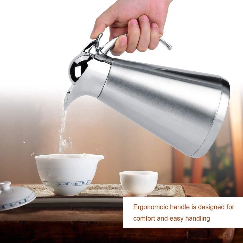 Zerone Thermal Carafe,Stainless Steel Coffee Tea Kettle Vacuum Insulation Thermo Jug