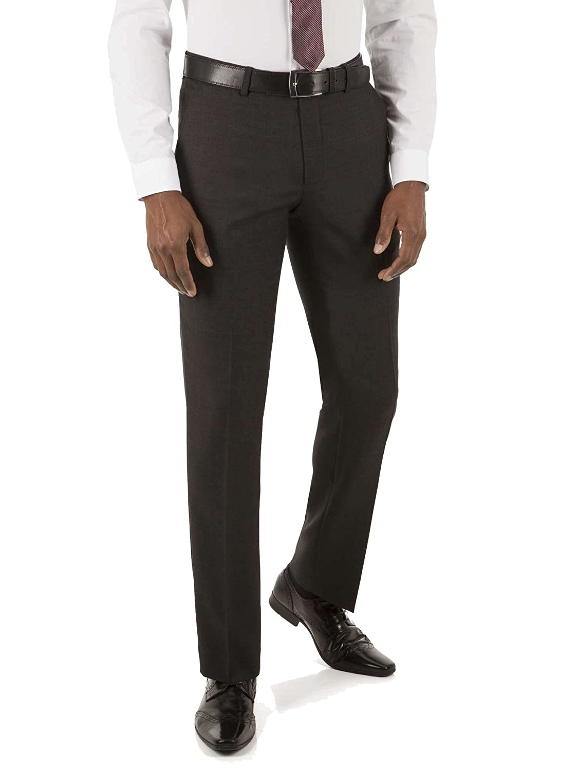 Tom English Charcoal Prince of Wales Check Tailored FIT Trouser