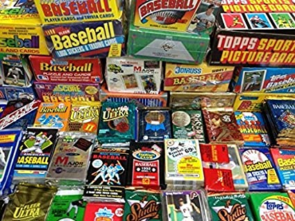 Factory Sealed Pack Sale 100 Old Baseball Cards Topps Fleer Donruss Upper Deck Score Stadium Club O Pee Chee Bowman Sealed Wax Packs