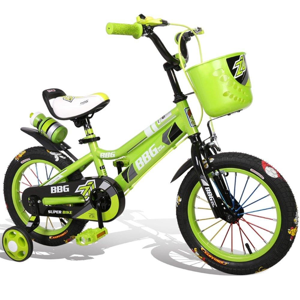 美しい 家子供用自転車、男性用と女性用の自転車、乳母車、12/14/16インチの26歳の自転車、赤ん坊のおもちゃの車 (色 : 緑, サイズ さいず : 14 inch) B07CXFWY73 14 inch|緑 緑 14 inch