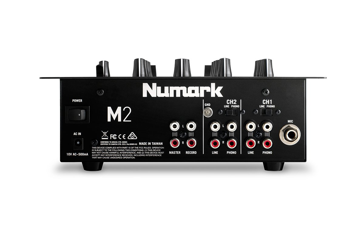 Numark M2BLACK | Professional Two-Channel Scratch Mixer with 3-band EQ per Channel by Numark (Image #3)