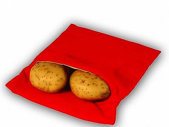 Always Fresh Kitchen Cook Tatoes Bolsa para Patatas En Microondas, Rojo, 2 x 22 x 17 cm