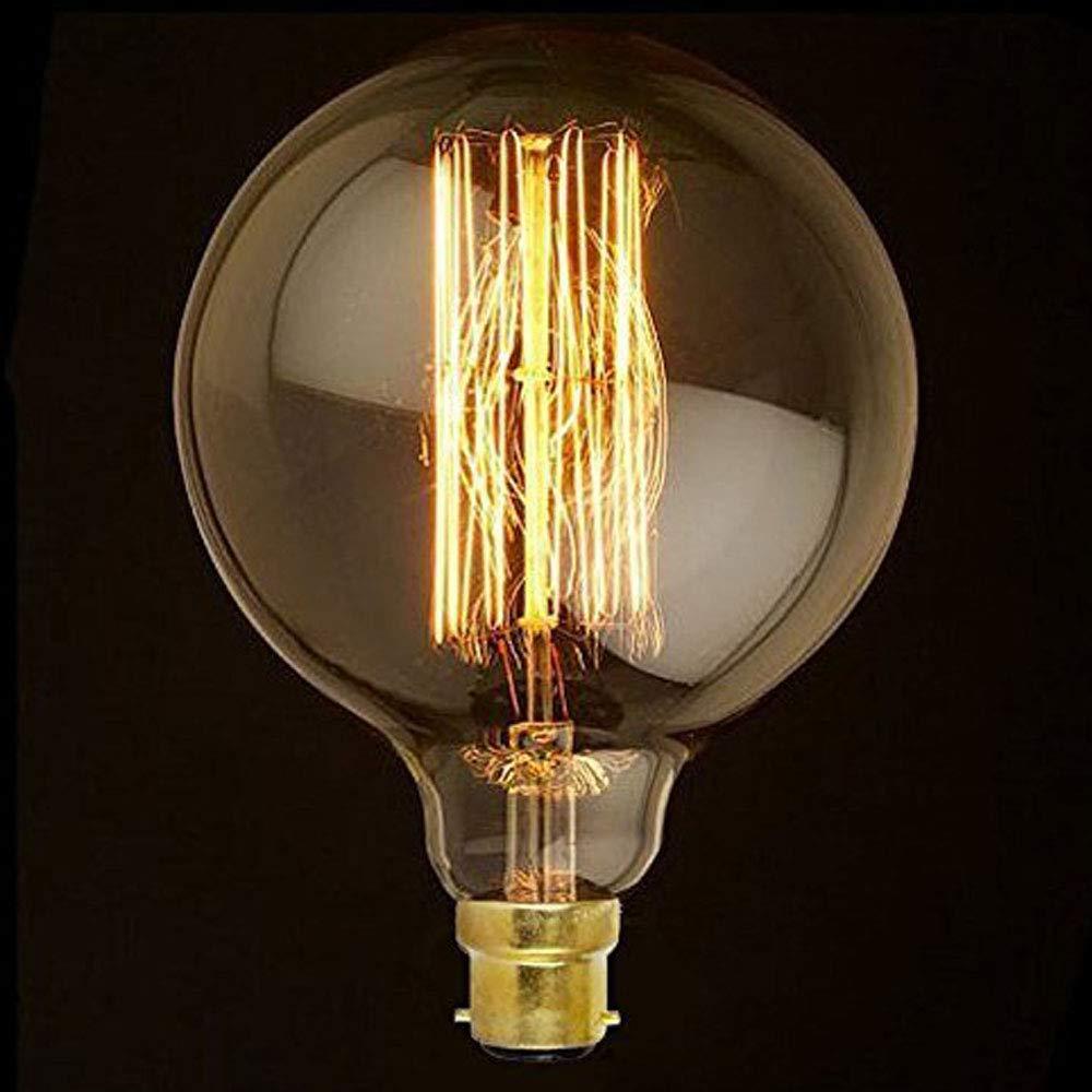 G125 B22 40W Antique Vintage Edison Filament Decorative Energy Saving Light Bulb