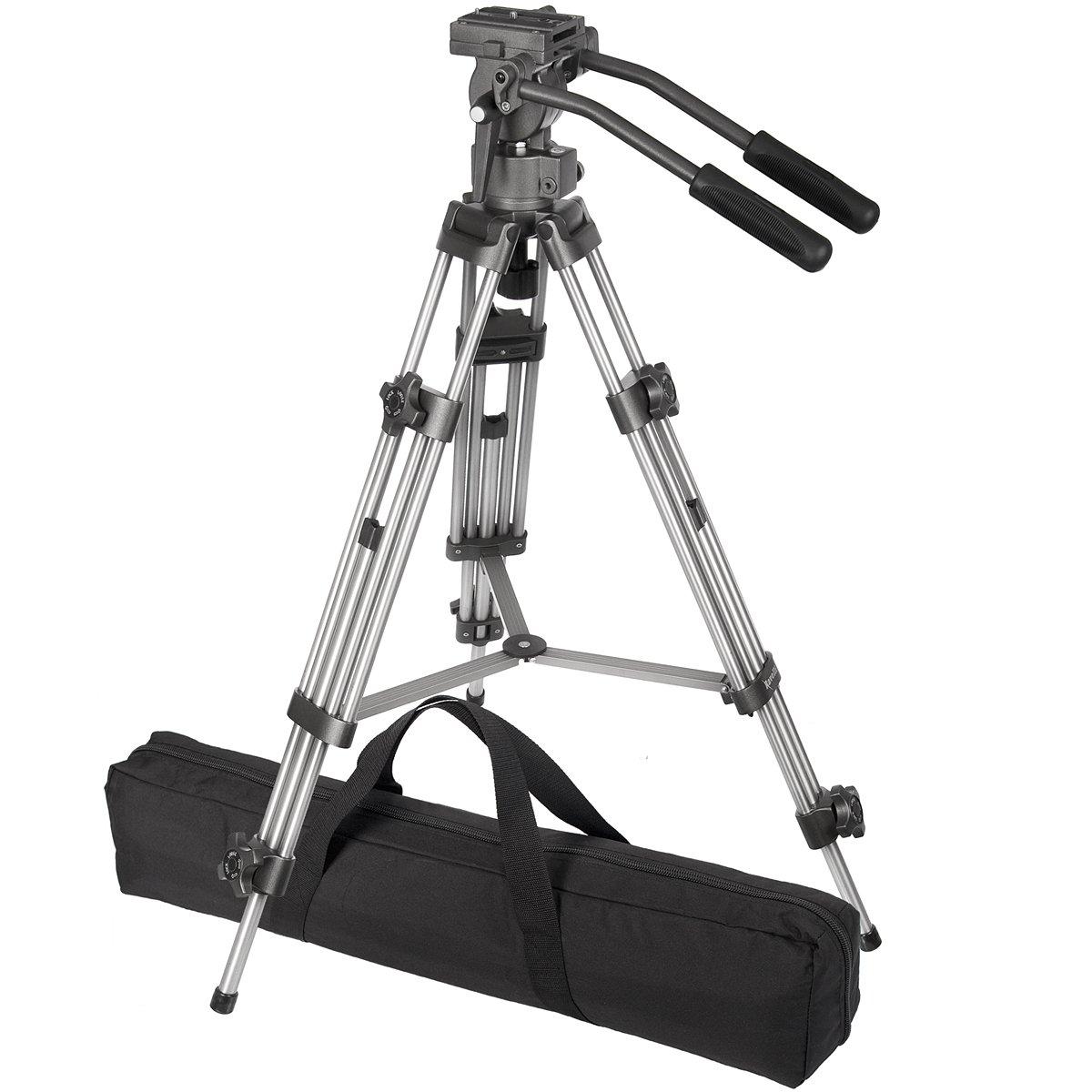 Ravelli AVTP Professional 65mm Video Camera Tripod with Fluid Drag Head by Ravelli