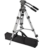 Ravelli AVTP Professional 65mm Video Camera Tripod with Fluid Drag Head