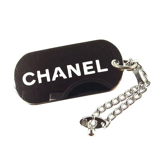 1924b21bc7e7 (シャネル) Chanel キーホルダー キーリング シルバー ロゴプレート レディース メンズ 可 中古 T4982