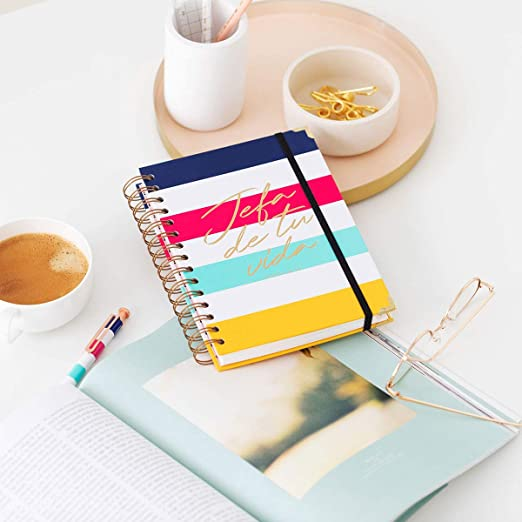 Amazon.com : 19-20 Week to View Diary Head Stripes Medium ...