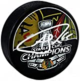 Andrew Shaw Signed Autographed Chicago Blackhawks 2013 Stanley Cup Champs Logo Hockey Puck TRISTAR