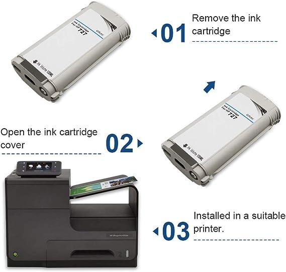 SMARTOMI Remanufacturado 727 Compatibles con HP 727 Cartucho de ...