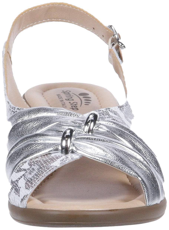 Spring Step Woherren Woherren Woherren Champeta Heeled Sandal, Silber, 39 M EU 8.5 US  27871f