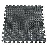 Vivona Hardware & Accessories 61x61cm EVA Foam Floor Interlocking Tile Mat Show Floor Gym Exercise Playroom Yoga Mat Black