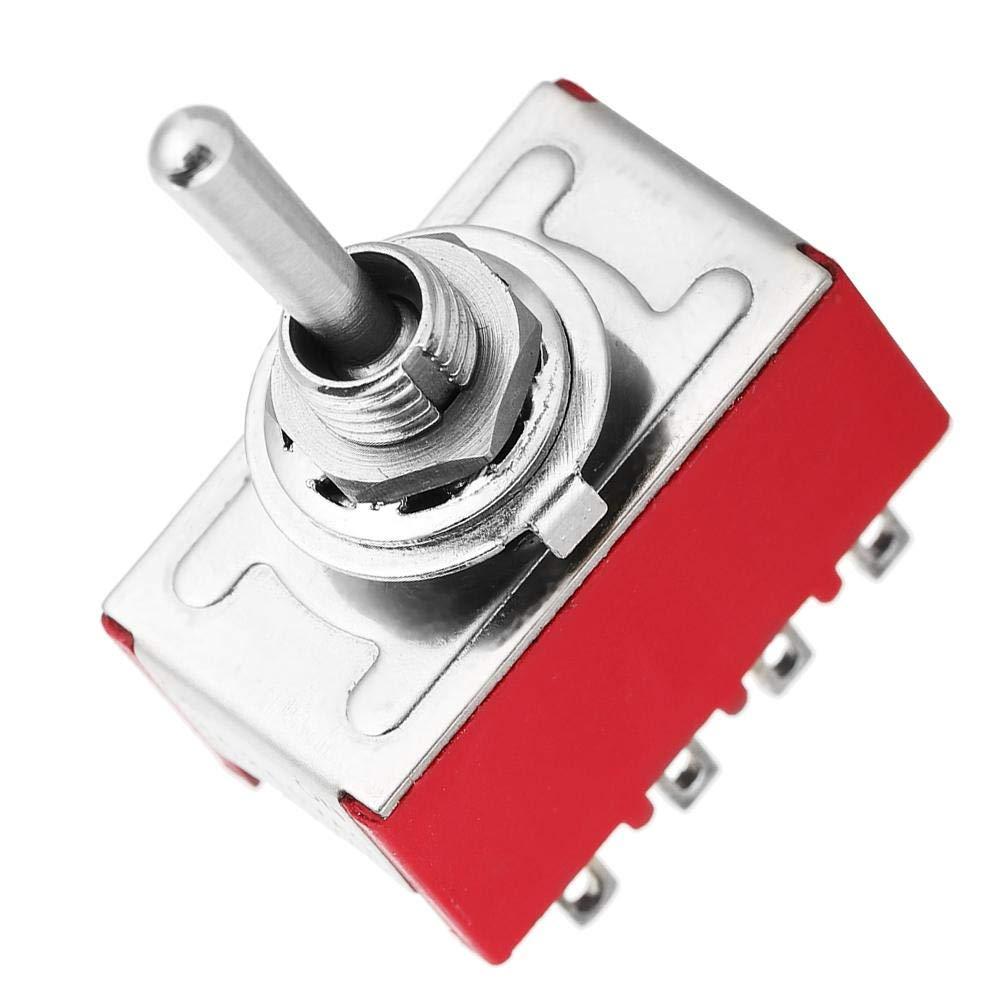 Mini-Kippschalter 2 Positionen Kippschalter ON-ON-gesteuerter Schalter 5 ST/ÜCKE MTS-402 Mini-Kippschalter 12-polig