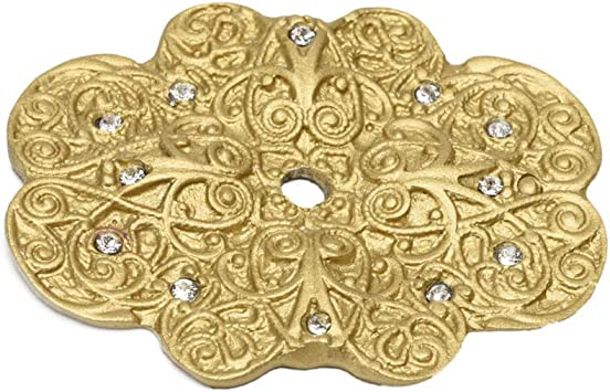 MONTICELLO 4520-26C Back Plate Large Unlacquered Brass