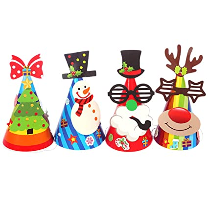 Christmas Birthday Party Ideas For Toddlers.Amazon Com Toymytoy 12pcs Christmas Ornament Paper Hat