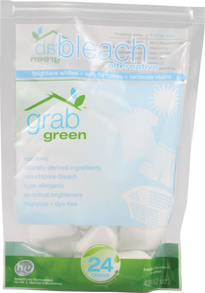 Grab Green GrabGreen無香料ブリーチの代替 - ケースあたり6パック - パックあたり24。 B005S4UJOK