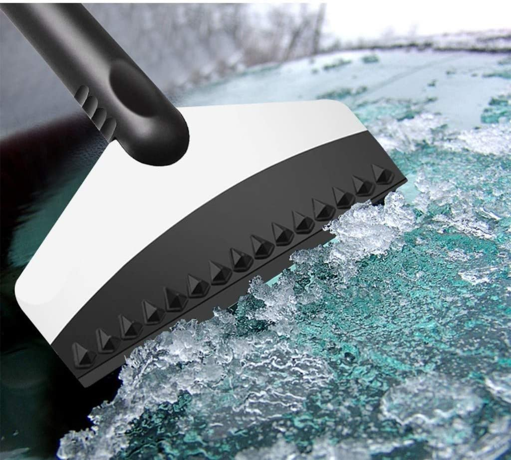 Windscreen Scraper Stainless Steel Snow Shovel Scratch Frost Ice Remover Tool with Car Microfibre Towel Cloth 11.8 kungfu Mall Ice Scraper for Cars 11.8 inches