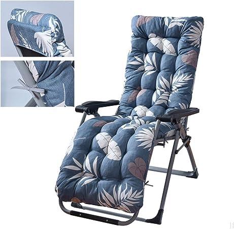 Cojines para tumbonas, cojines para sillones, cojines para cojines para sillas largas de patio suave Cojín para silla mecedora de banco relleno de poliéster para decoración de interiores y exteriores: Amazon.es: Hogar