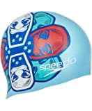 Speedo Junior Slogan Silicone Swim Cap