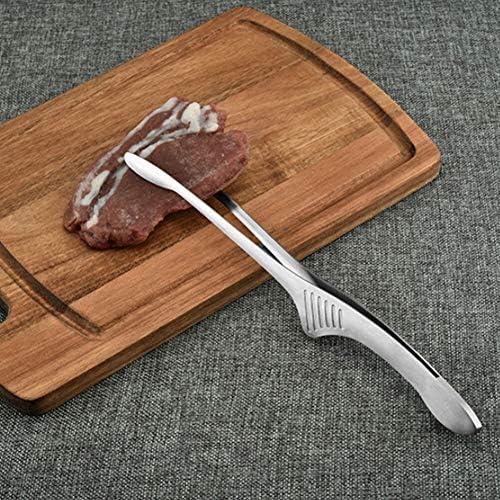 JJZXPJ Kochen Tongs Küche Silikon Kochen mit Tipps Edelstahl Tongues Metallausrüstung Utensil Sets Utensilien Salatbesteck BBQ