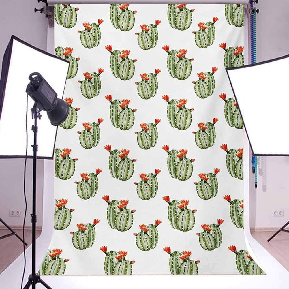 Cactus 6.5x10 FT Photography Backdrop Cute Watercolor Floral Design with Latin American Flower Design Abstract Background for Baby Shower Bridal Wedding Studio Photography Pictures