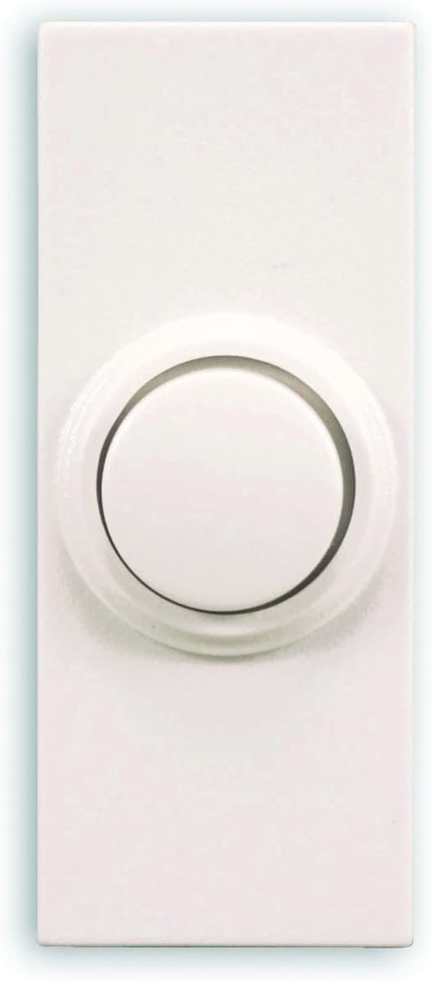 Heath Zenith SL-7393-02 Doorbell Wrls Push-Button Round, White