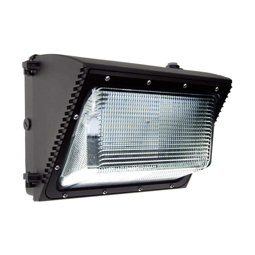 60w LED Wall Pack Light with Photocell 6657 Lumens IP65 UL and DLC Listed 5000k Replaces HPS/HID up to 320W 120-277V 5 Year Warranty - Dusk to Dawn Security Outdoor Wall Lighting All Weather Design