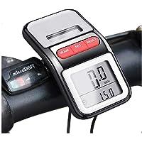 BOMEON Bike Speedometer Multifunction LCD Solar Power Bicycle Pedometer Odometer -Black