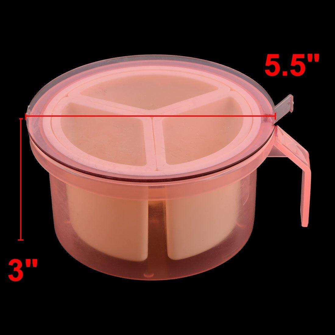 Amazon.com | eDealMax plástico Inicio 3 ranuras condimentos Especias una salsa de condimento envase de la caja Caja rosada: Condiment Pots