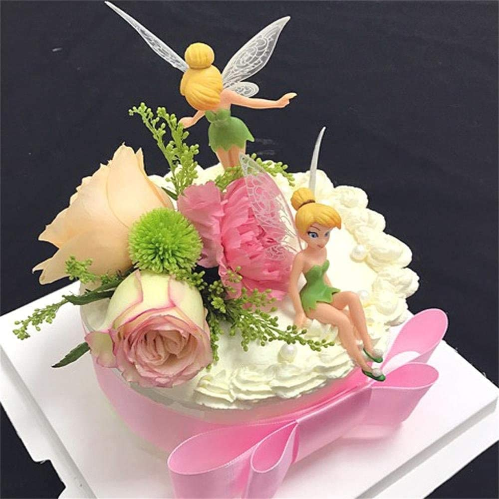 6 Pieces//set of cute mini garden accessories,Micro landscape DIY statue,Used for family birthday cake decoration BESLIME Mini fairy statue Flower Fairy Girls Dollhouse Garden Ornament Accessories