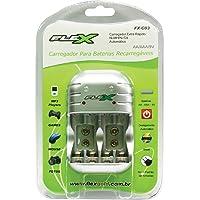 Carregador de Pilhas AA/AAA/9V FXC03 Bivolt FLEX, Flex, FXC03, N/DISP