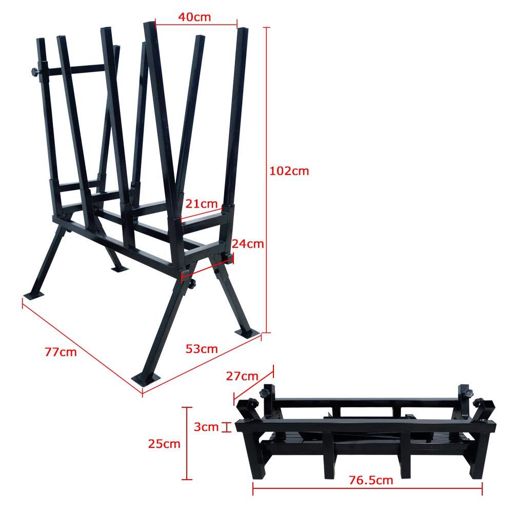 in legno pieghevole AUFUN Cavalletto per sega 83 x 83 x 79 cm portata fino a 100 kg in acciaio