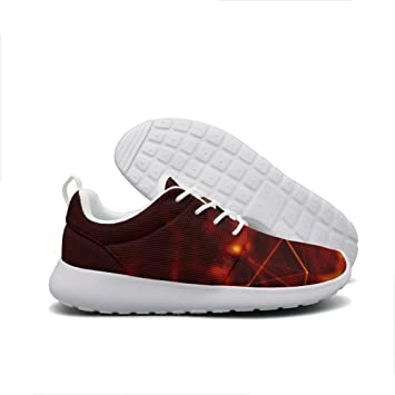 Abstract tech design shiny art Burning Mens guys Sneaker Sneakers Lightweight Breathable hiking shoe