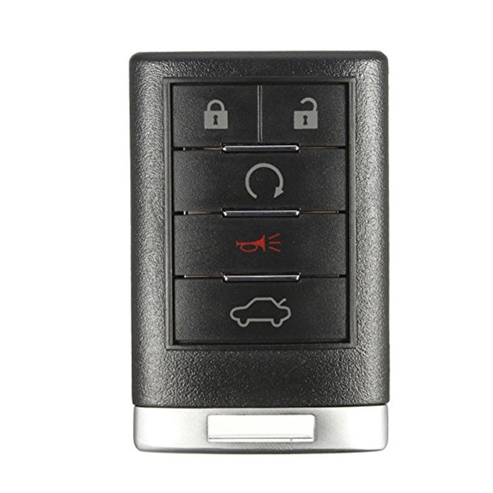 5 Buttons Remote Key Fob Cover Shell for Cadillac ATS SRX DTS CTS STS XTS