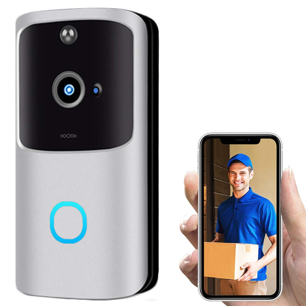 Smart Camera Doorbell, Wireless Video Doorbell for Home Security, Automatic Motion Detection and App Remote Control for iOS & Android, 4 Months of Super Long Running Time (32G TF Card Included) by Youen
