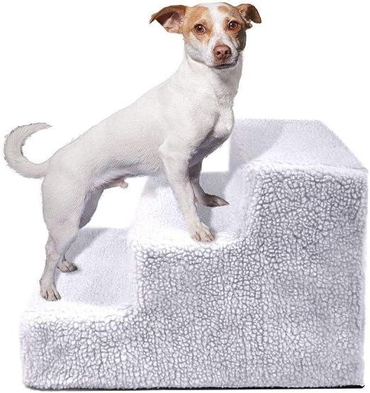 Chitty Mascotas Perros Y Gatos Plataforma De La Escalera Escalones Cama del Animal Doméstico De La Escalera Paso Rampa De Escalera De Paso 3 (45 * 9 * 30 Cm) Cómodo: Amazon.es: Hogar