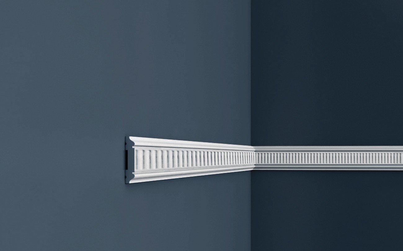Perfil de estuco Moldura Cornisa Orac Decor PX145 AXXENT Elemento decorativo para pared y techo 2 m