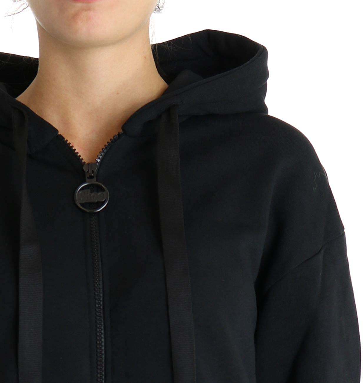 Shoeshine Sweatshirt Over für Damen Schwarz