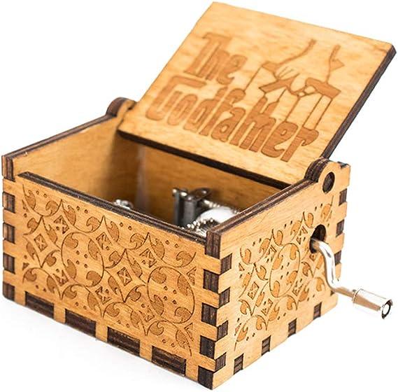 lujiaoshout La Caja de música de Madera tallados Retro Caja de ...