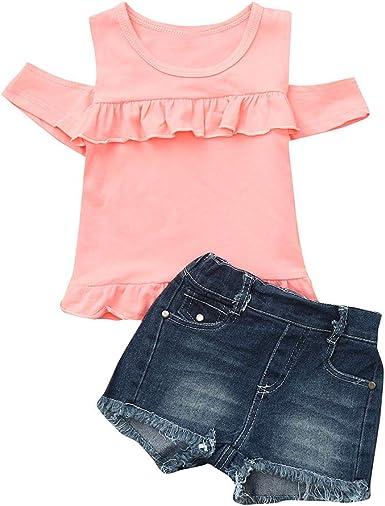 Amazon.com: Juego de ropa para bebés y niñas de 0 a 4 años ...