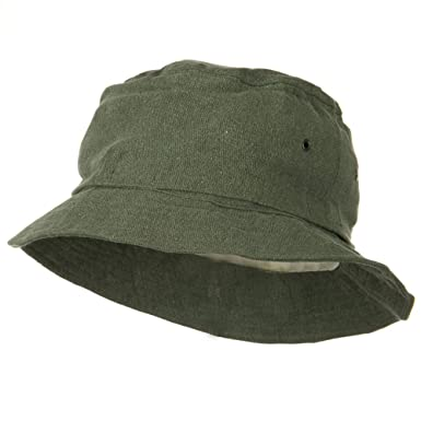 1ee7b0a393f26 Jacobson Hat Company Washed Cotton Twill Mosquito Net Hat - Olive - S-M