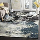 Safavieh Glacier Collection GLA123B Abstract Blue and Multi Area Rug (5′ x 8′)