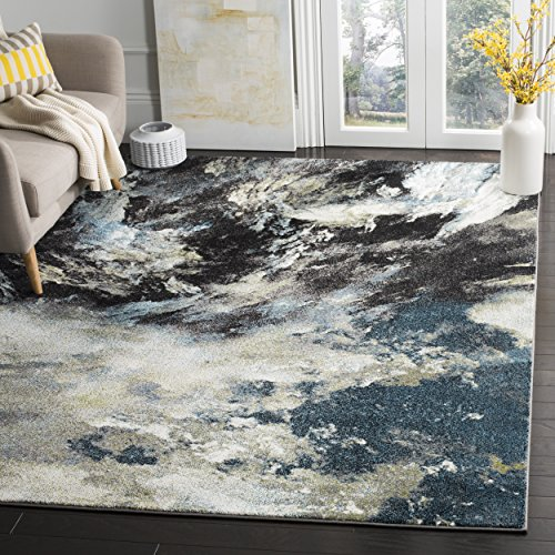Safavieh Glacier Collection GLA123B Abstract Blue and Multi Area Rug (8' x 10') ()